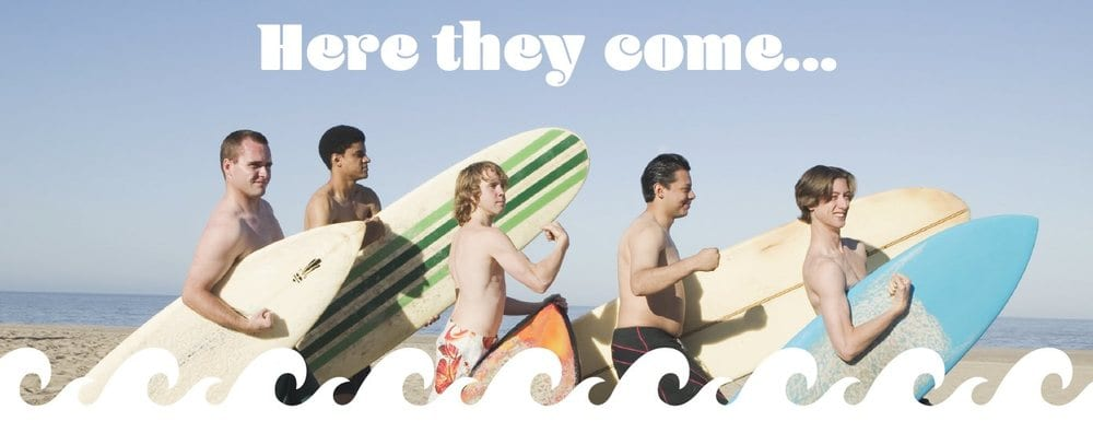 Men with surfboards
