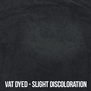vat dyed - slight discoloration