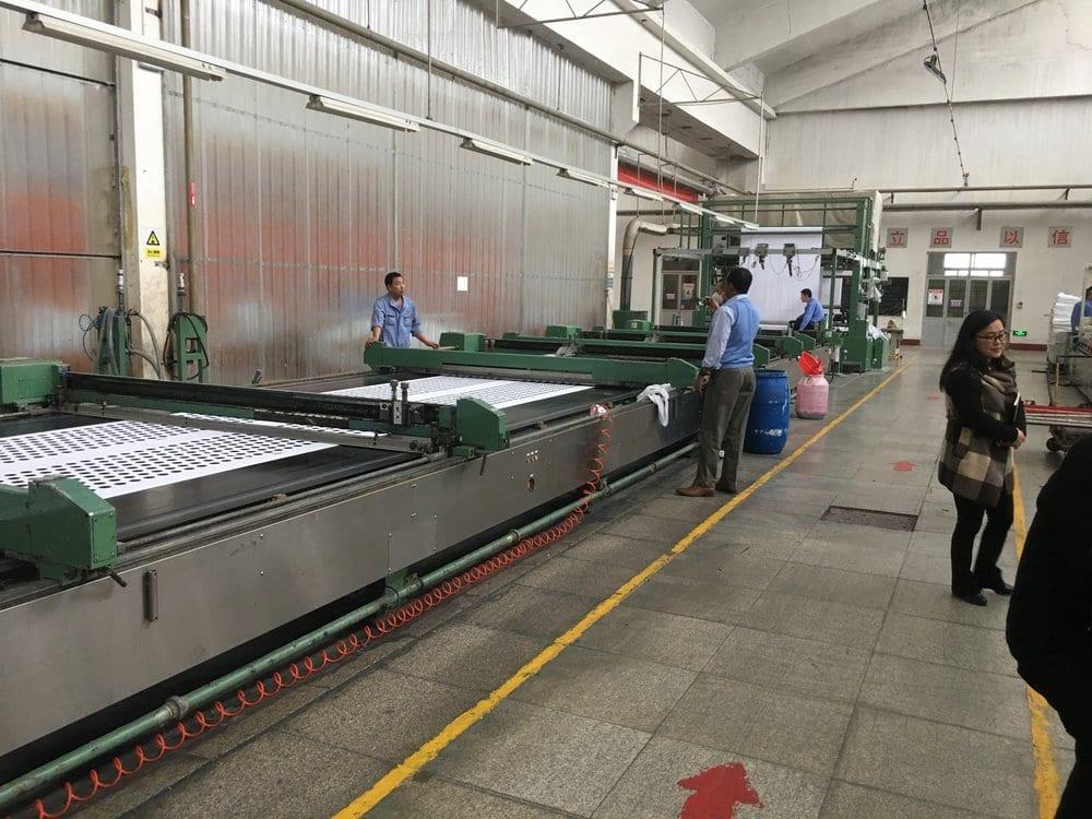 large corporate mill loom