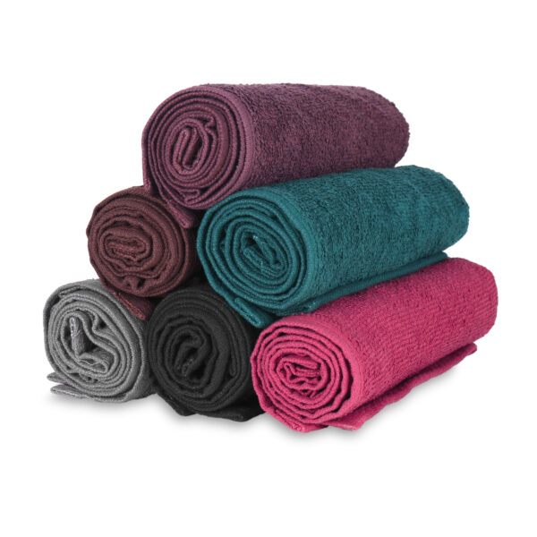 Bleach Safe Stylist Towels rolled up stacked