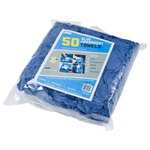 Blue Huck Towel 50 Pack