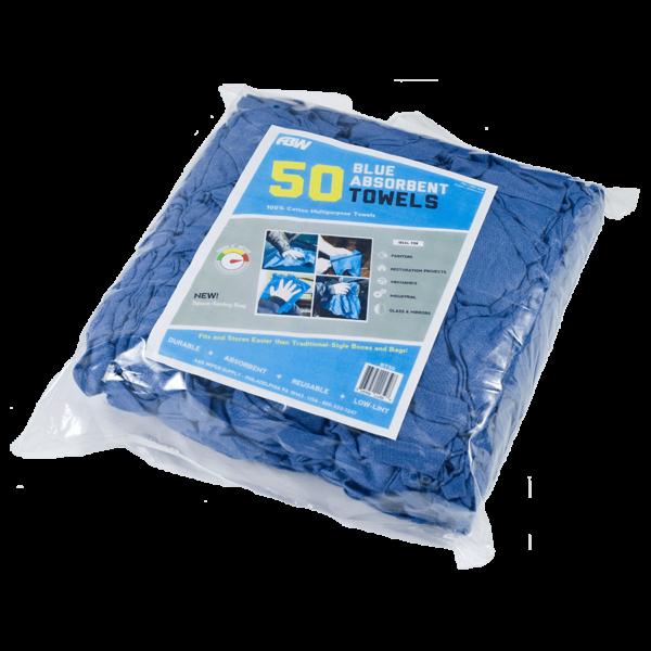 Blue Huck Towel 50 Pack