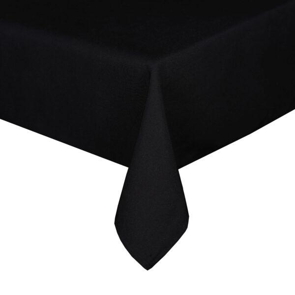 Mariposa Table Linen Black Corner Closeup