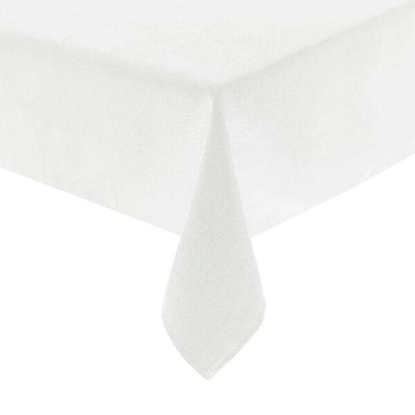 Mariposa Table Linen White Corner Closeup