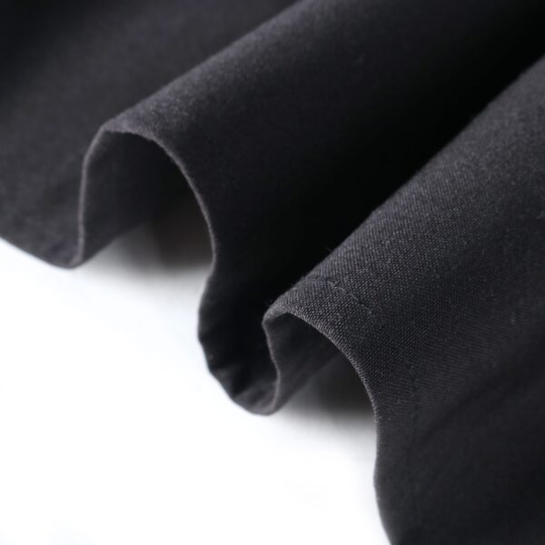 Mariposa Table Linen Black Closeup