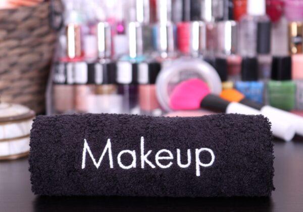 Makeup Towel rolled closeup