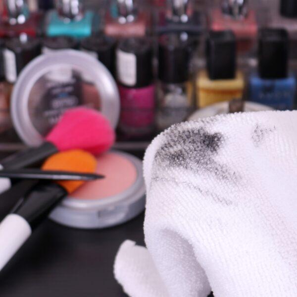 Makeup Towel with smudge