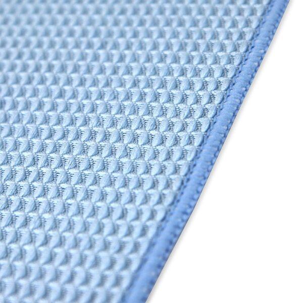 Blue Waffle Microfiber Hand Towels closeup