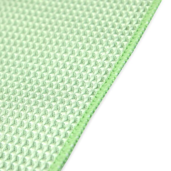 Green Waffle Microfiber Hand Towels closeup