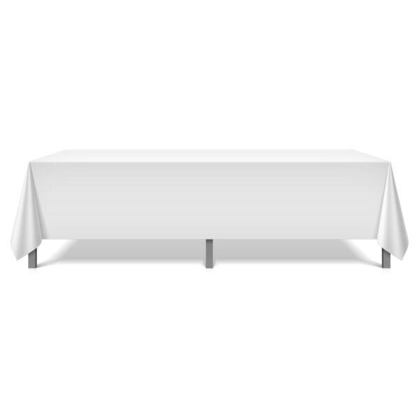 Mariposa Table Linen White Long