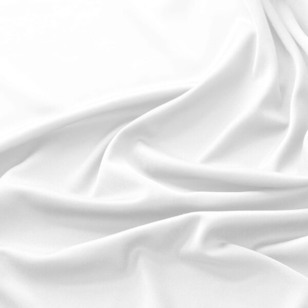 Closeup of white linen sheet