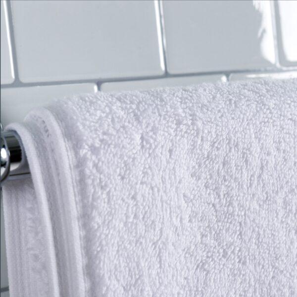 Magellan Towel Collection on towel rack closeup