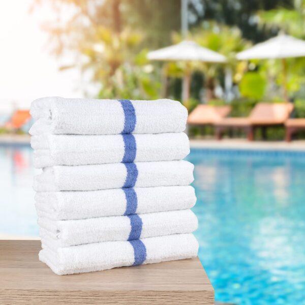 Monarch Pool Towels by poolside