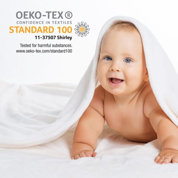 Baby with towel around head