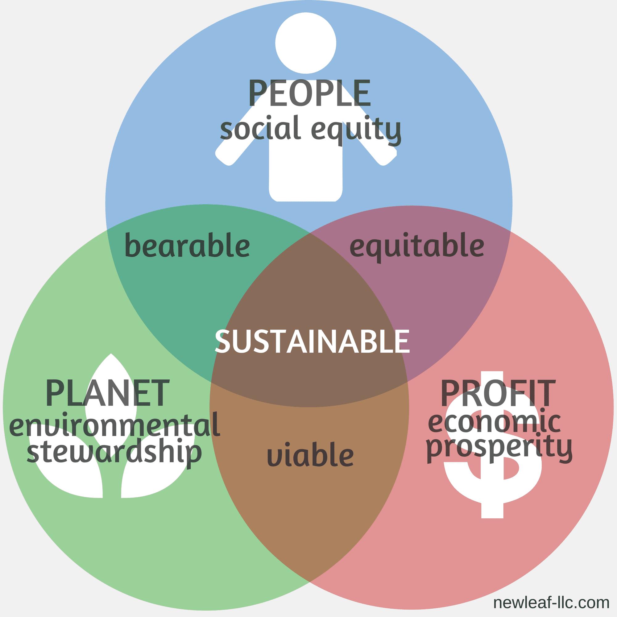 Triple Bottom Line Venndiagram