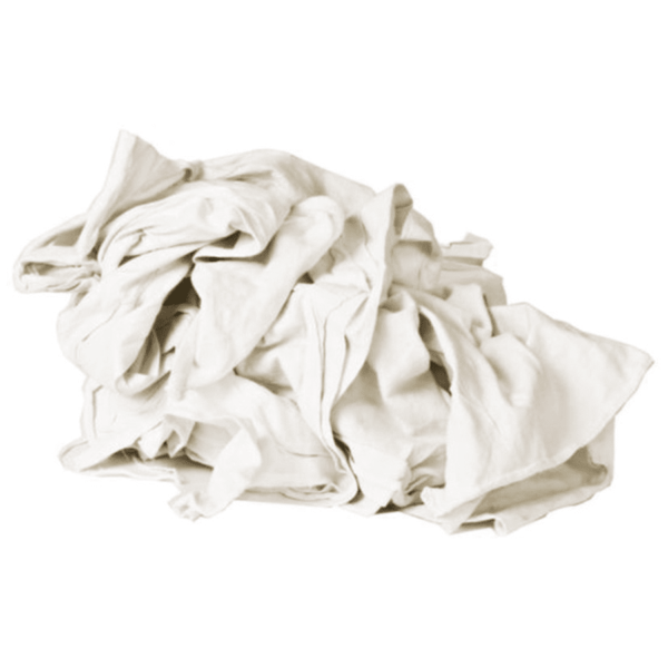 New Mill End Rags - White Premium T-shirt Material