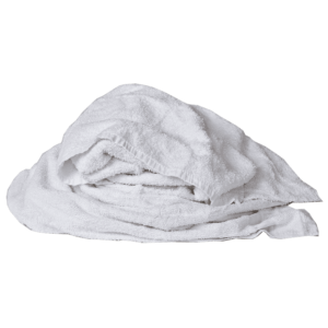 New Mill End Rags - White One-Sided Terry Wipers