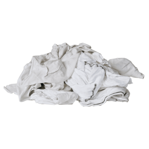 New Mill End Rags - Medium Weight White Knitted Wipers