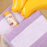 Eco-Friendly Clear Water Cabana Towel - Lilac lifestyle image