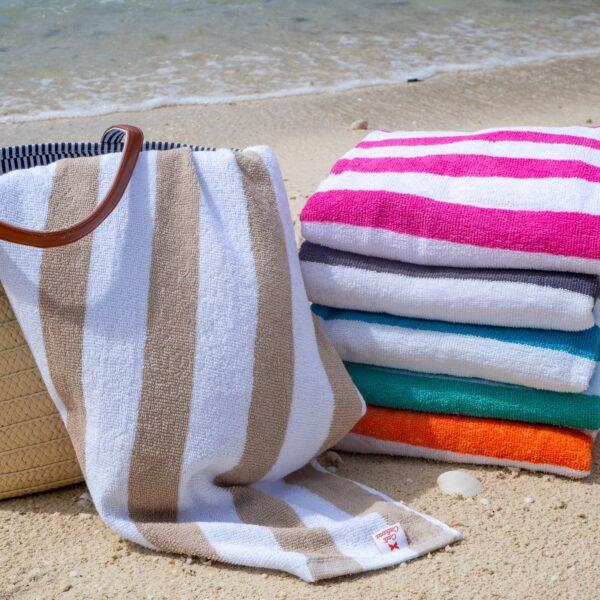 Cali Cabana Towels on beach