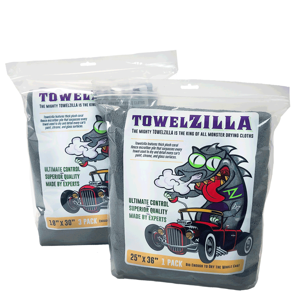 Towelzilla 1-count and 3-count packaging