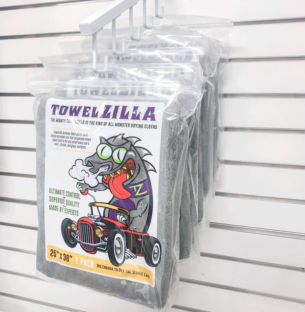 Towelzilla hanging retail