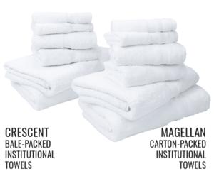 Crescent vs Magellan stacked towels