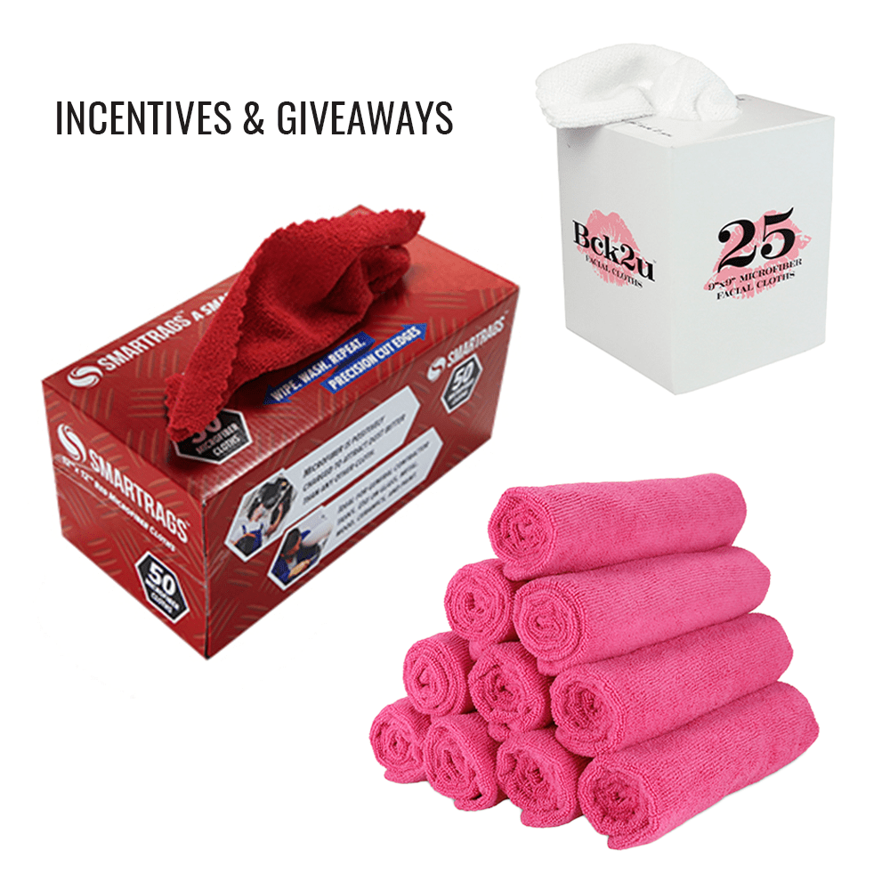 SmartRags Facial Cloths and Rolled Up pink towels