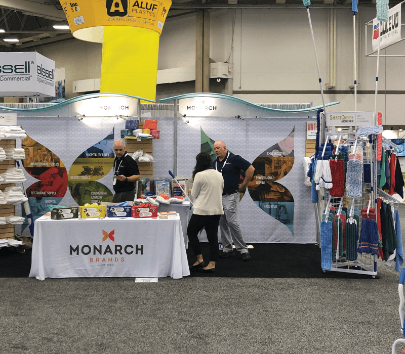 Monarch Brands booth and ISSA